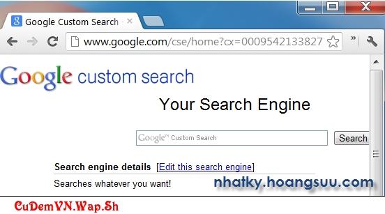 Google Custom Search - Hướng dẫn tạo tìm kiếm tùy chỉnh cho website