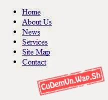 Hướng dẫn tạo Menu ngang đơn giản 1 cấp bằng CSS và HTML