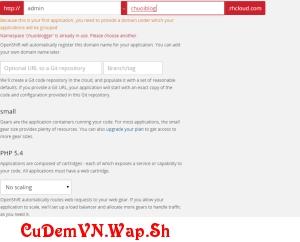 [P1] Hướng dẫn chi tiết Cách đăng kí, tạo server Free Hosting OpenShift