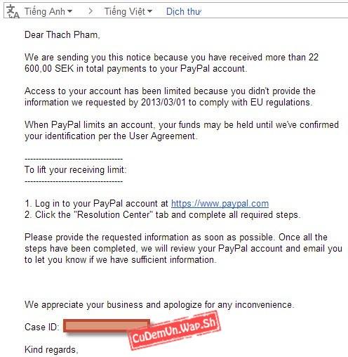 """PayPal bị """"Limit"""" là do đâu? Hướng dẫn gỡ limit PayPal chi tiết"""