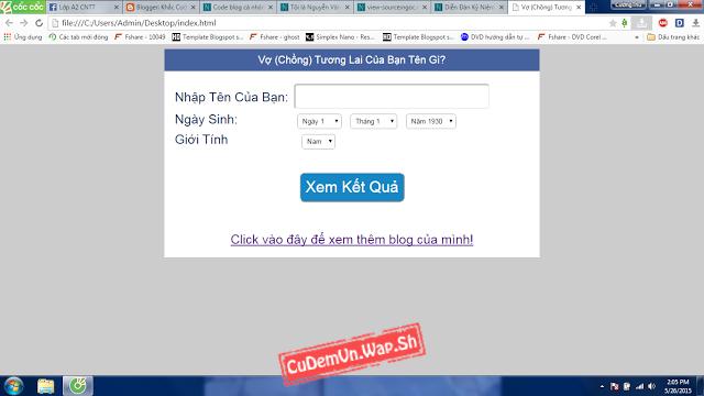 [HTML] Share code bói Vợ Chồng tương lai của bạn trong tương lai đang HOT trên Facebook