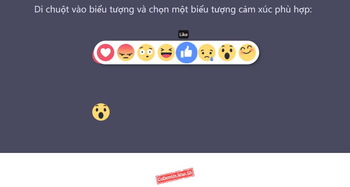 Share code biểu tượng cảm xúc Reaction Facebook bằng jQuery