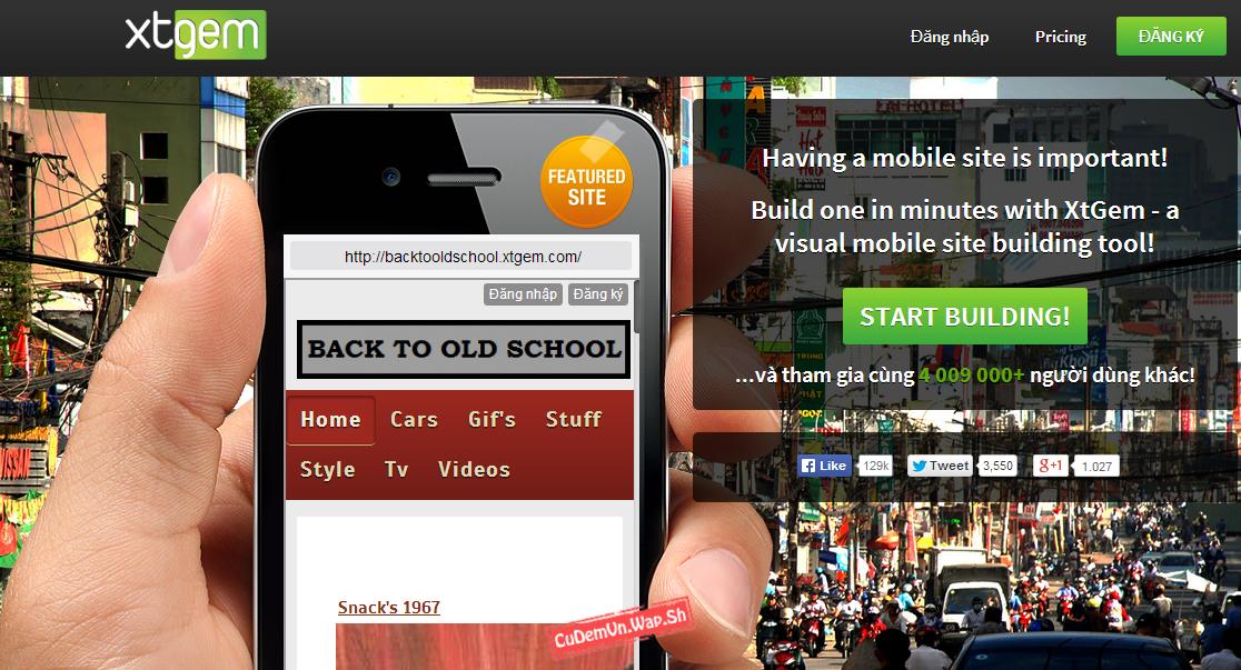 Share code bộ đếm Online bằng hình ảnh không Quảng cáo dành riêng cho Wap Xtgem