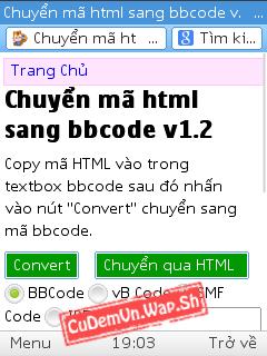 Share code chuyển mã HTML sang BBcode, vB Code, SMF Code, IPB Code thuận tiện và dễ dàng