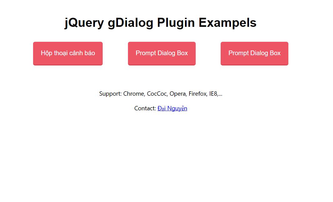 Share code gDialog popup hộp thoại cảnh báo, hộp thoại confirm giống iOS bằng jQuery