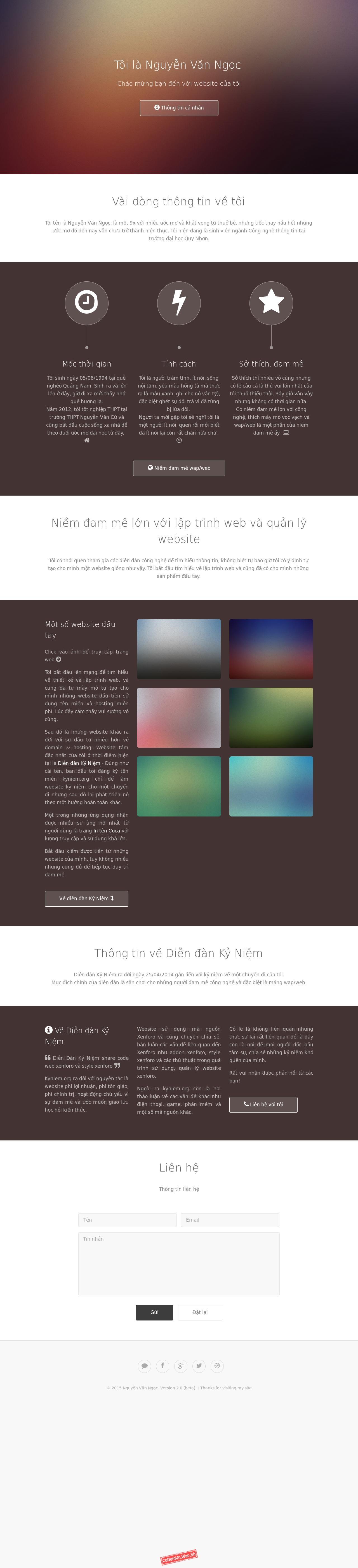 Share code HTML Web giới thiệu bản thân responsive cực đẹp bởi KyNiem.Org