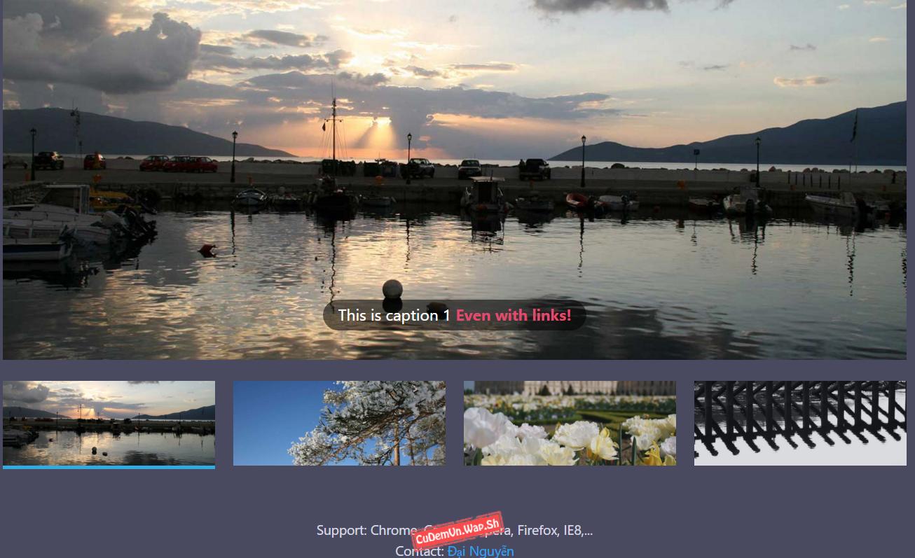 Share code Slippry Slider album ảnh tối ưu sự đơn giản nhưng cực đẹp