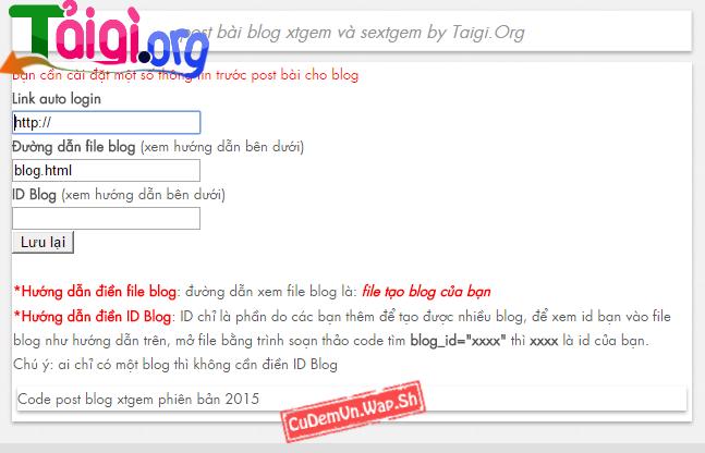 Share code tool post bài cho blog bản mới nhất (Xtgem và Sextgem)
