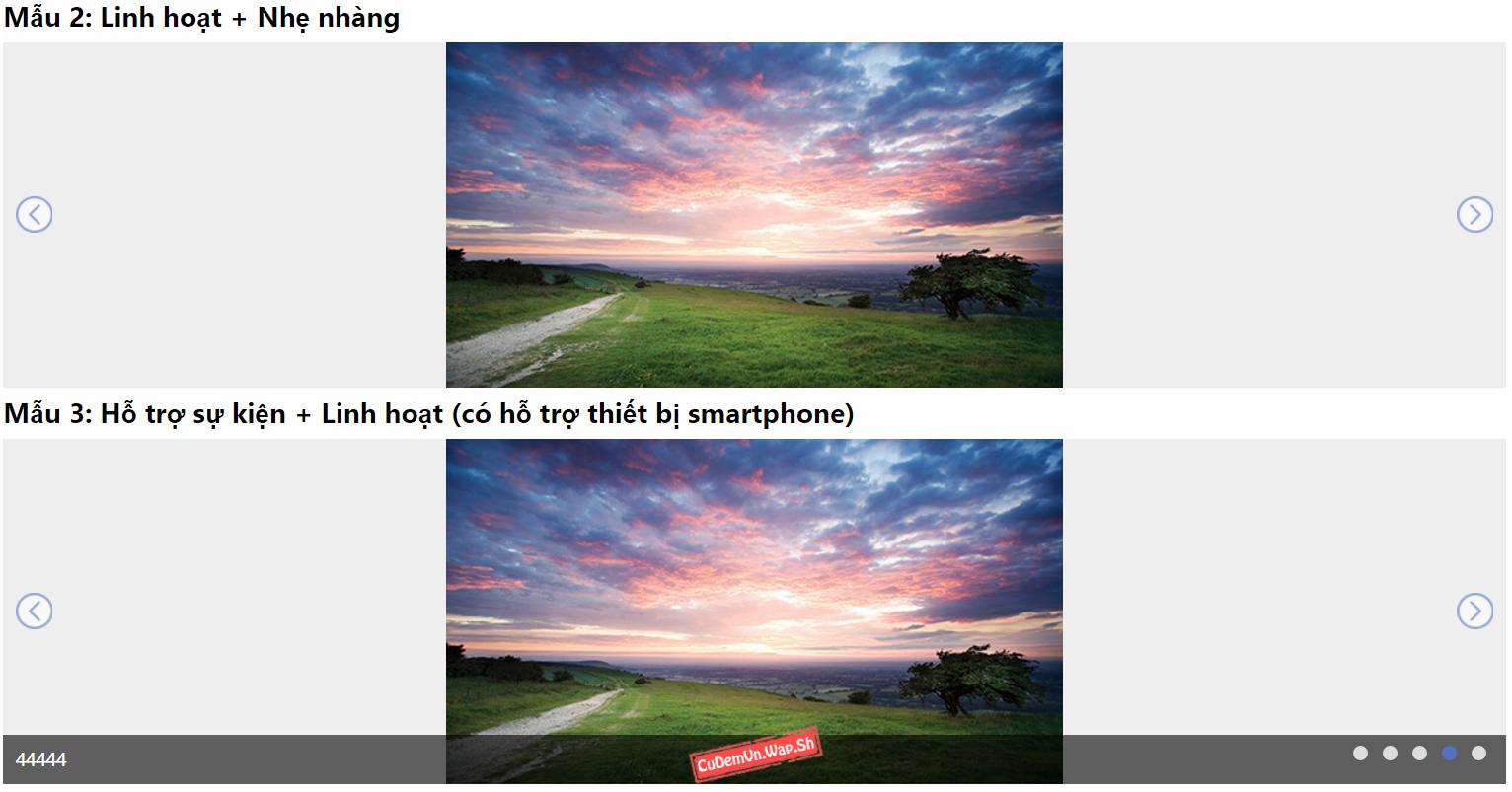 Share code trình chiếu ảnh hiSlider đẹp mượt mà, hỗ trợ hầu hết các trình duyệt máy tính và Smartphone