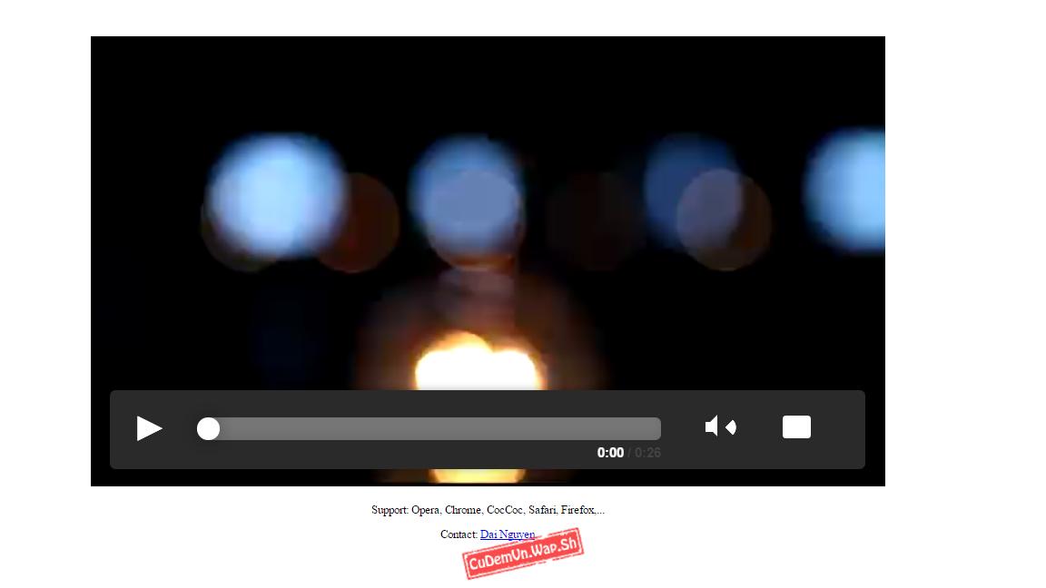 Share code Video Player đơn giản mà đẹp sử dụng HTML5 + CSS3 hỗ trợ nhiều dạng link