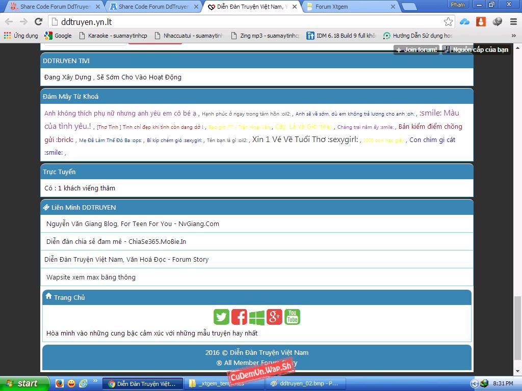 Share Full code Forum Xtgem DDTruyen.Yn.Lt SEO khủng, kiểm duyệt bài viết ra index cực mới lạ