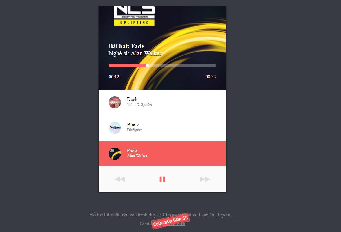Share source code jAudio - trình phát nhạc Online dạng playlist đầy đủ chức năng Full control