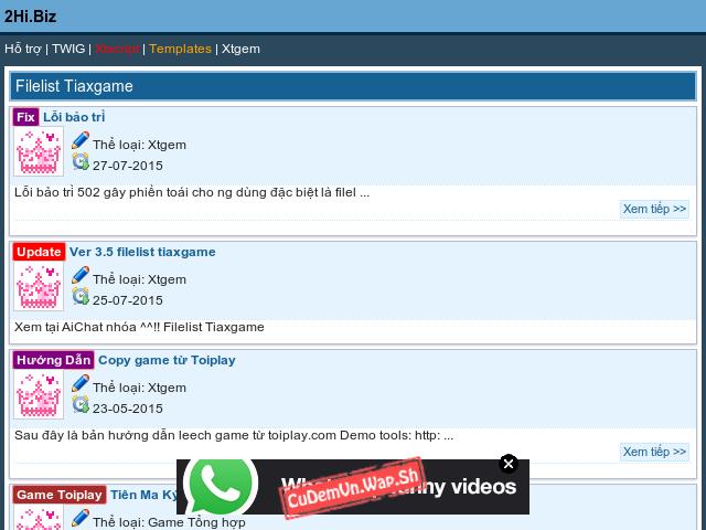 [Tổng hợp] Share filelist TWIG tiaxgame v3.5 bản hoàn chỉnh Mod và Fix