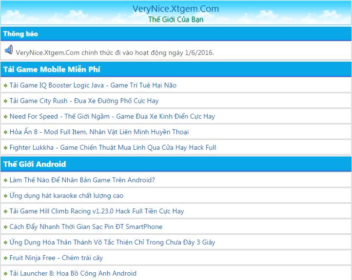 Share Filelist VeryNice Ver1 Url Thân Thiện, Giao Diện Đẹp!, Kèm Tool Post, Tạo chuyên mục